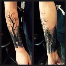 Dunkler Wald Schraffur Artstyle Tattoos