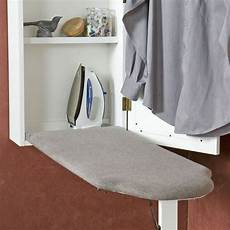 wall mount ironing board with storage cabinet at