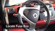 2008 smart car fuse box location interior fuse box location 2008 2013 smart fortwo 2009 smart fortwo cabrio 1 0l 3 cyl