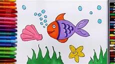 Terbaru 30 Gambar Kartun Ikan Di Kolam Menggambar Ikan