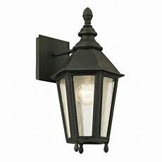 troy lighting 1 light vintage iron 14 75 in h outdoor wall sconce with clear
