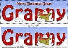 large dl merry christmas great granny insert with snowman cup934266 359 craftsuprint