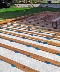Bauanleitung F 252 R Holzterrasse Unterkonstruktion Verlegen