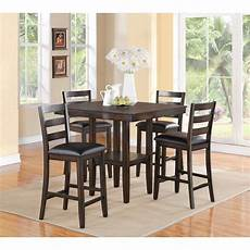brown 5 piece counter height dining set tahoe rc willey furniture store