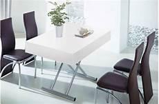 table blanc laqué rallonge table basse relevable 224 rallonge blanc laqu 233 extencia