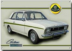 FORD LOTUS CORTINA TWIN CAM METAL SIGNA3 SIZE VINTAGE