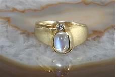 mondstein ring mit brillant gold 585 second