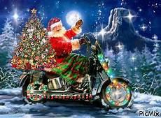 weihnachtsmann auf motorrad gif picmix animation biker picmix