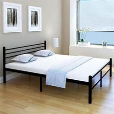 bett matratze bett mit matratze schwarz metall 160x200 cm my shop24 ch