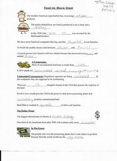 answers to food inc worksheet billions in change documentary questions worksheet answers