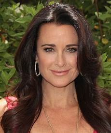 kyle richards straight formal hairstyle dark hair color