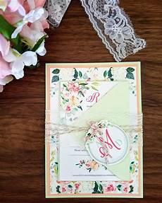 diy wedding invitations mint my diy story peach mint floral wedding invitation