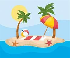 Gratis Malvorlagen Regenschirm Island Handtuch Und Sonnenschirm Auf Sand Auf Der Insel