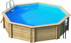 Pool Bausatz Holz Holzpool Octa5 Rund Schwimmbecken Blockbohlen Bausatz