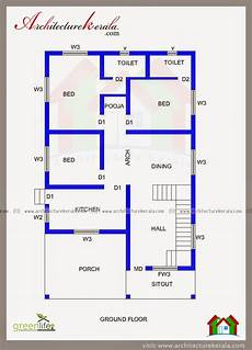 house plan kerala 3 bedrooms three bedroom house plan and beautiful elevation
