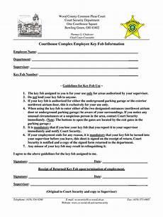 key acceptance form employee key fob agreement fill online printable fillable blank pdffiller