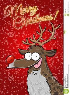 rudolph merry stock illustration