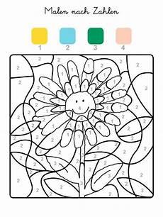 Ausmalbilder Mit Zahlen Ausmalbild Malen Nach Zahlen Sonnenblume Ausmalen