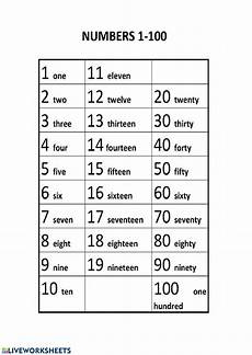 numbers 1 100 activity