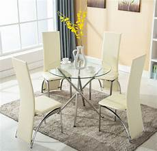 4 chairs 5 piece glass dining table kitchen room breakfast furniture ebay
