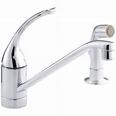 kohler coralais kitchen faucet kohler coralais single handle standard kitchen faucet with side sprayer in polished chrome k