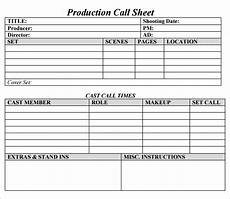 free 10 sle call sheet templates in ms word pdf