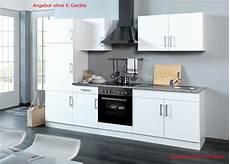 Küchenblock Ohne Elektrogeräte - k 252 chenzeile hochglanz weiss einbauk 252 che ohne elektroger 228 te