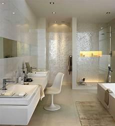 Mosaik In Der Dusche - gemauerte dusche mit glas und beleuchteter nische sowie