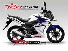 Modifikasi Motor Cb150r 2014 by Modif Striping Cb150r 2014 Rwb For Half Fairing Motoblast
