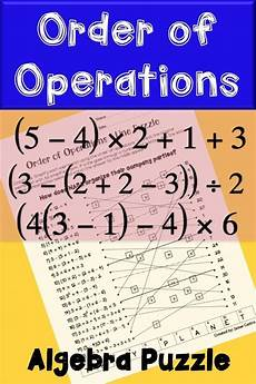 multiplication worksheets with pictures 4661 order of operations line puzzle activity order of operations seventh grade math simplifying