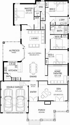 single storey house plans australia island hton single storey floor plan wa in 2019