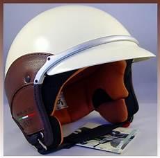 vespa piaggio scooter ivory helmet vintage brown