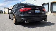 audi s4 custom exhaust loud youtube