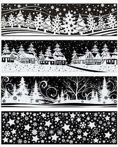 fensterbild auswahl schneeflocken sterne dorf wald