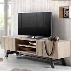 Meuble Tv En Bois Et M 233 Tal De Design Modern Easy
