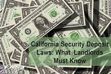 Damage More Than Deposit by California Security Deposit Laws What Landlords Must