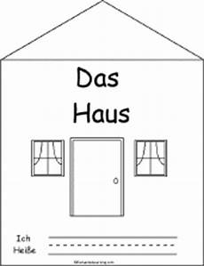 german worksheets house 19660 das haus the house a printable book in german enchantedlearning