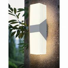 eglo 94118a silver roffia 4 quot wide 2 light led outdoor wall sconce lightingdirect com