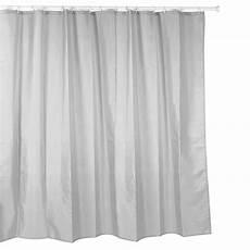 Textil Duschvorhang Hell Grau 220x200 Vorhang Dusche
