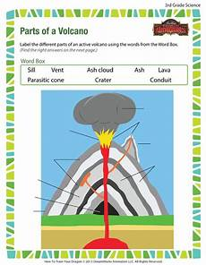parts of a volcano 3rd grade science worksheets online science worksheets volcano worksheet
