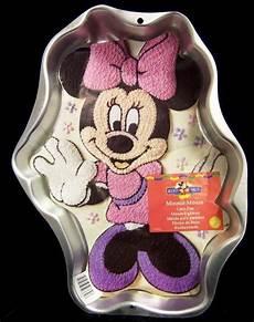 wilton cake pan minnie mouse 1998 metal mold tin disney