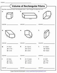 worksheet volume prisms kids activities