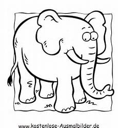 kostenlose ausmalbilder ausmalbild elefant 6