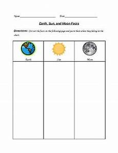 science worksheets earth sun moon 12190 pin on science