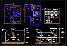 dwg house plans duplex house space planning 35 x40 floor plan dwg free