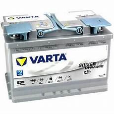 Autobatterie Varta E39 Agm Start Stop 12v 70ah 760a