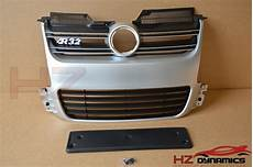 r32 type matt silver front bumper grill grille fits vw