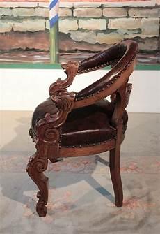 fauteuil de bureau style renaissance en ch 234 ne xixe