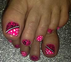 nailart funkytoes pink toe nails toe nails pedicure