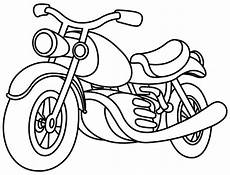 outlined motorcycle stock vector illustration of